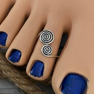 Sterling Silver Double Spiral Toe Ring
